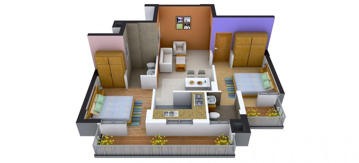 Floor Plan Image of 1050 - 3275 Sq.ft 2 BHK Apartment for buy in Cosmic Urban Young