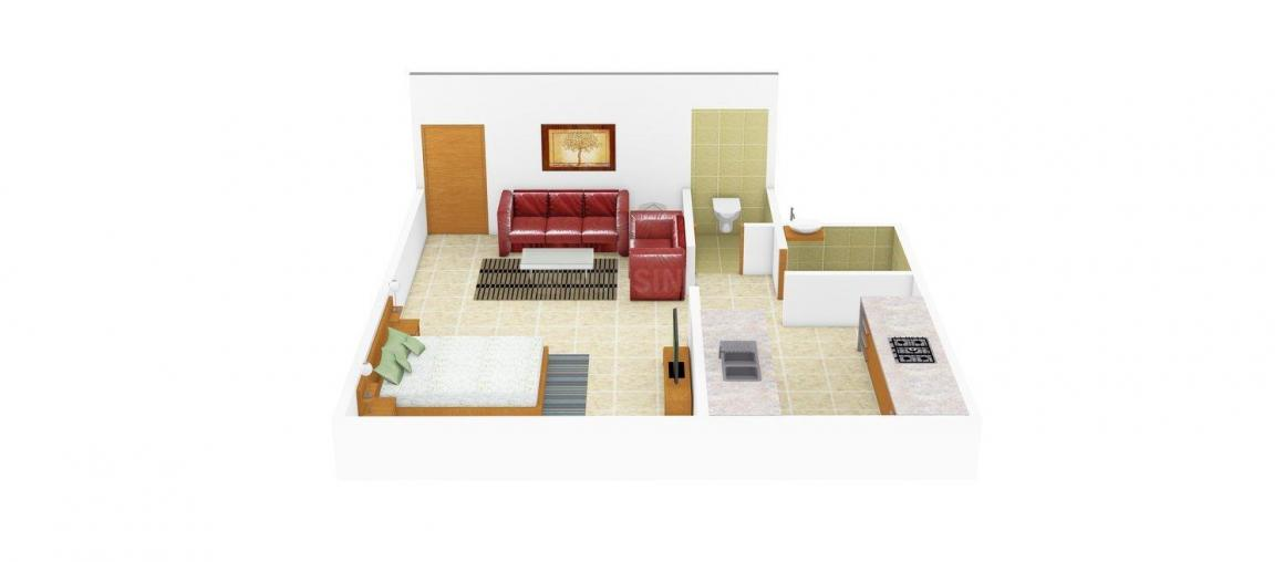 Floor Plan Image of 257 - 367 Sq.ft 1 RK Apartment for buy in Shree Samarth Aangan