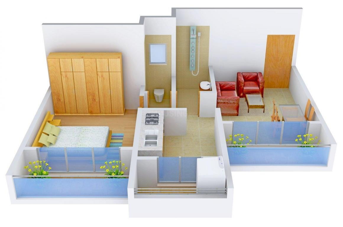 Floor Plan Image of 0 - 550 Sq.ft 1 BHK Apartment for buy in Bramha Villa