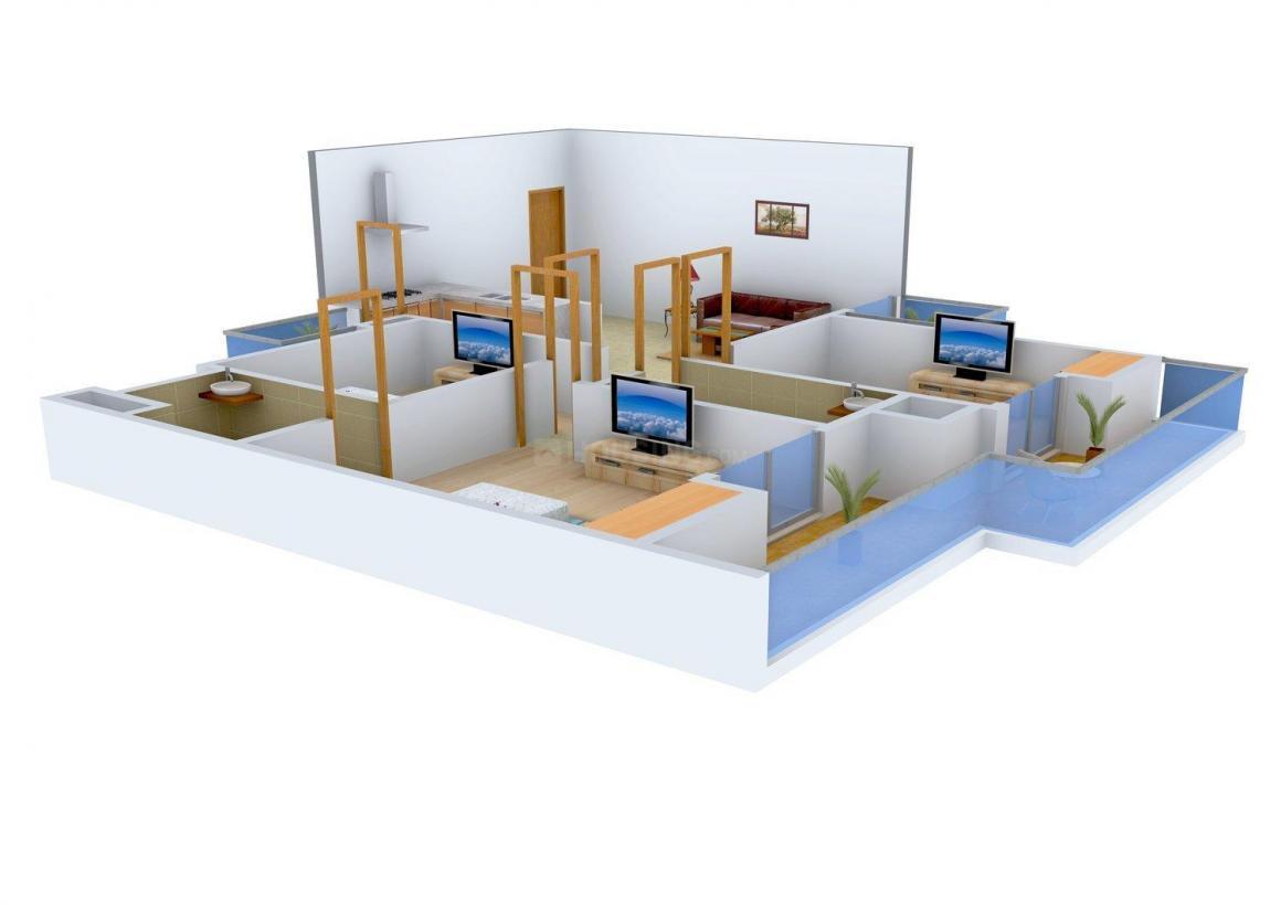 Floor Plan Image of 0 - 1130.0 Sq.ft 3 BHK Apartment for buy in City Properties Shri Ram Apartments - I
