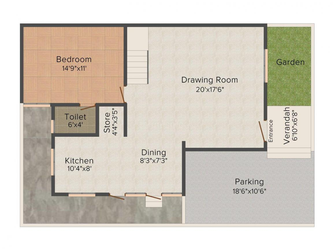 Dixit Floor Floor Plan: 5 BHK Unit with Built up area of 2430 sq.ft 1
