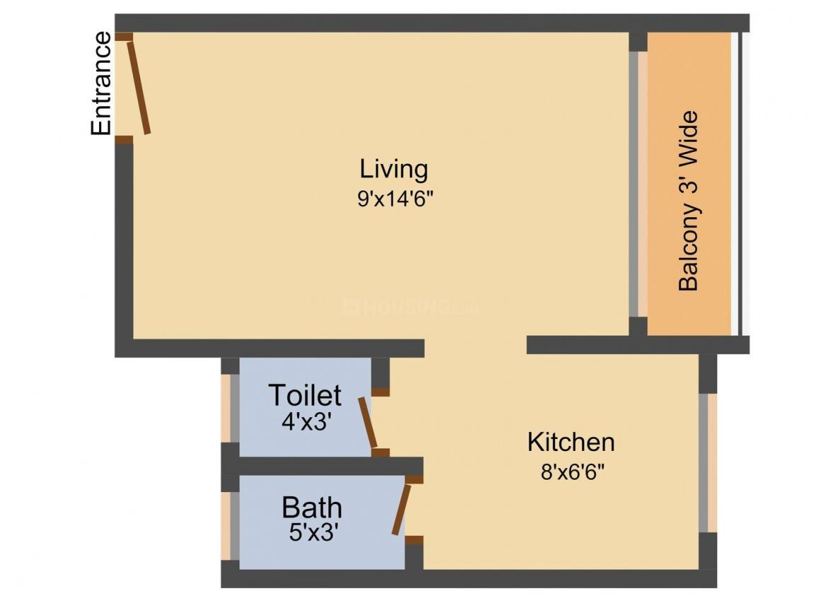 Floor Plan Image of 375 - 615 Sq.ft 1 RK Apartment for buy in Maitree Park