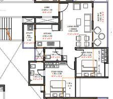 Austin Park Nxt Floor Plan: 2 BHK Unit with Built up area of 713 sq.ft 1