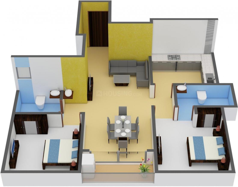 Floor Plan Image of 991.0 - 1314.0 Sq.ft 2 BHK Apartment for buy in DAC Sampurna