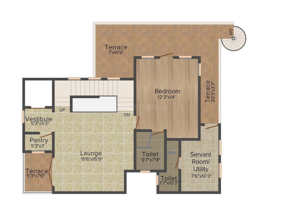 Emaar Marbella Floor Plan: 4 BHK Unit with Built up area of 5605 sq.ft 2