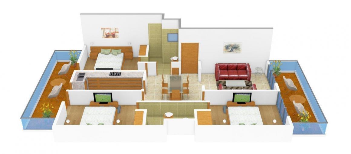 Floor Plan Image of 0 - 1850 Sq.ft 3 BHK Independent Floor for buy in BF-72