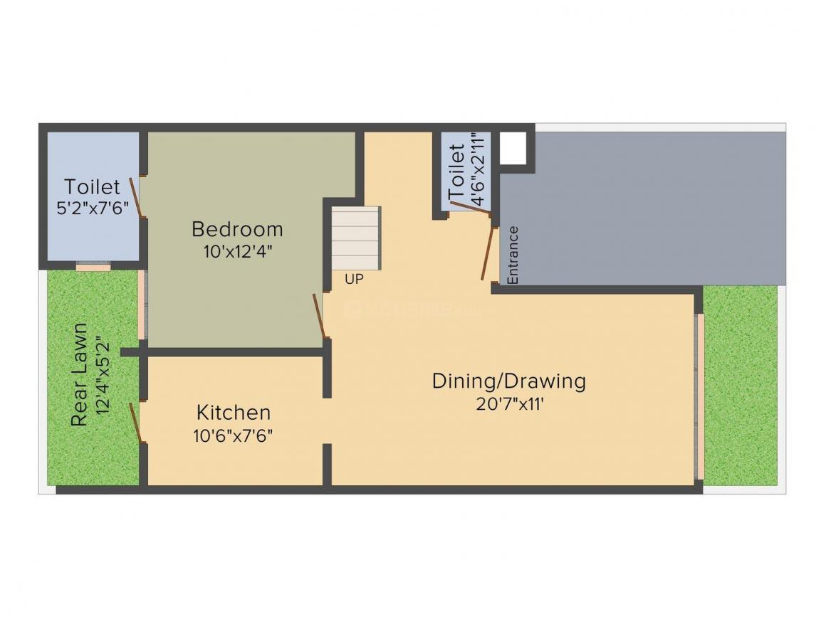 Intellicity Phase I Floor Plan: 3 BHK Unit with Built up area of 1765 sq.ft 1
