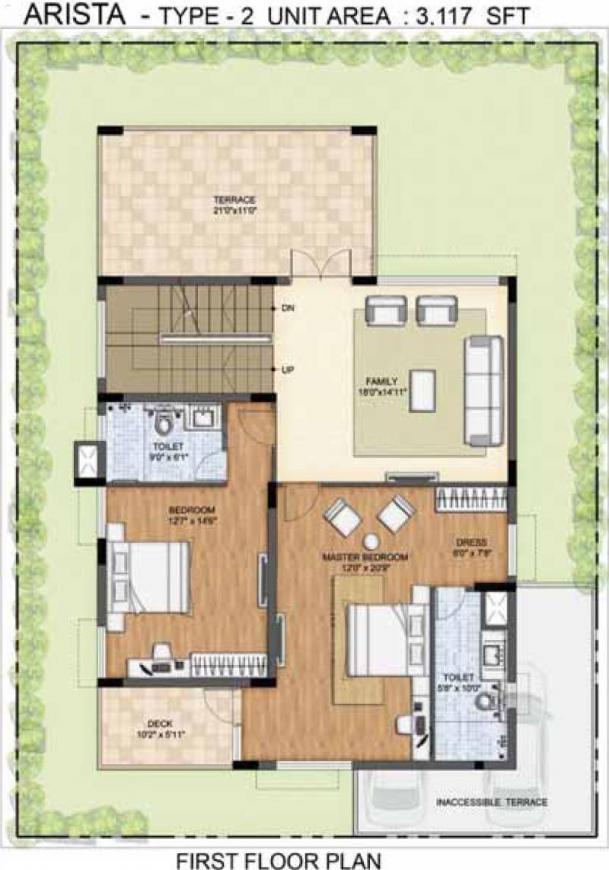 Floor Plan Image of 2231.0 - 4800.0 Sq.ft 3 BHK Villa for buy in Prestige Lakeside Habitat Villas