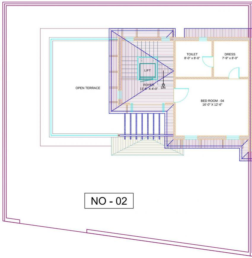 Silver Sparsh Villa Floor Plan: 4 BHK Unit with Built up area of 2207 sq.ft 2