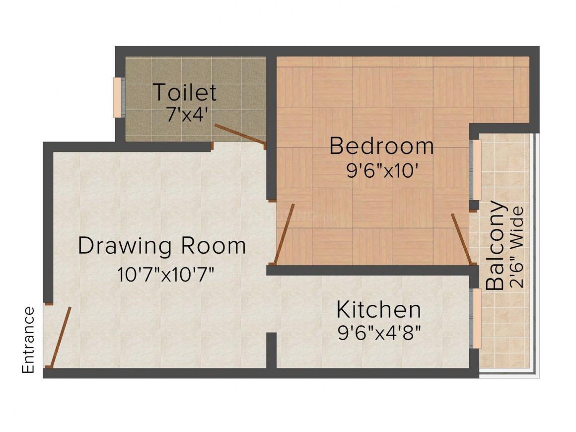 Floor Plan Image of 525.0 - 865.0 Sq.ft 1 BHK Independent Floor for buy in Sai Niwas