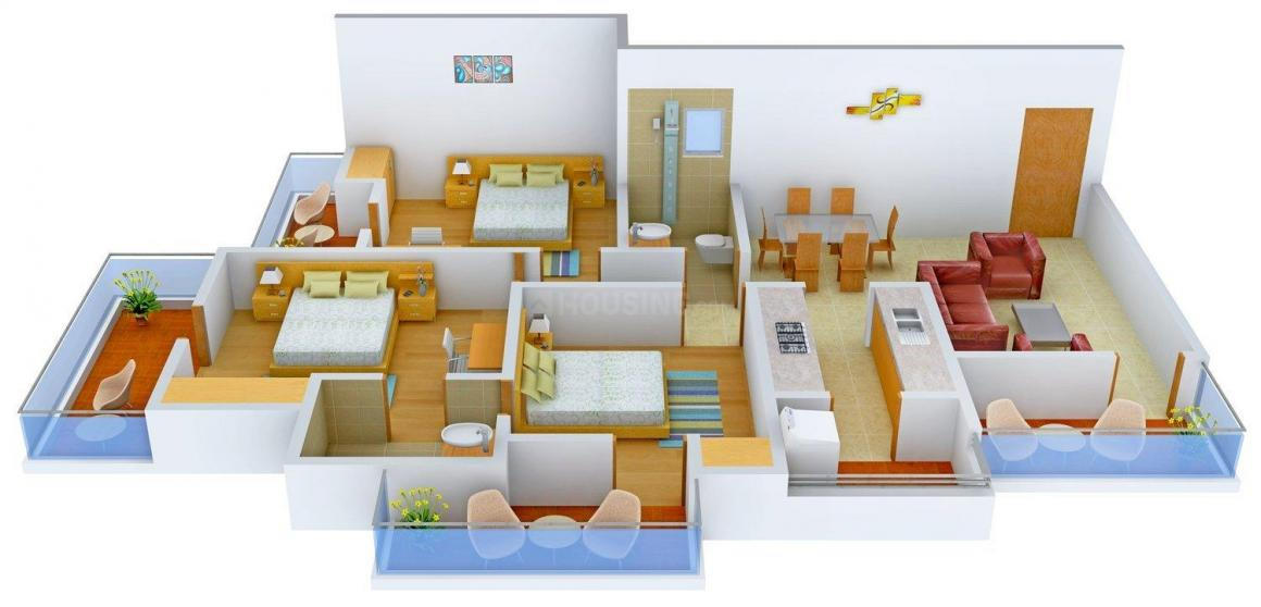 Floor Plan Image of 0 - 1440 Sq.ft 3 BHK Independent Floor for buy in Pride Homes 3