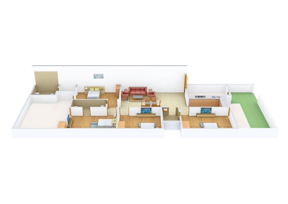 Floor Plan Image of 0 - 1900 Sq.ft 4 BHK Independent Floor for buy in BS Floors A 2038