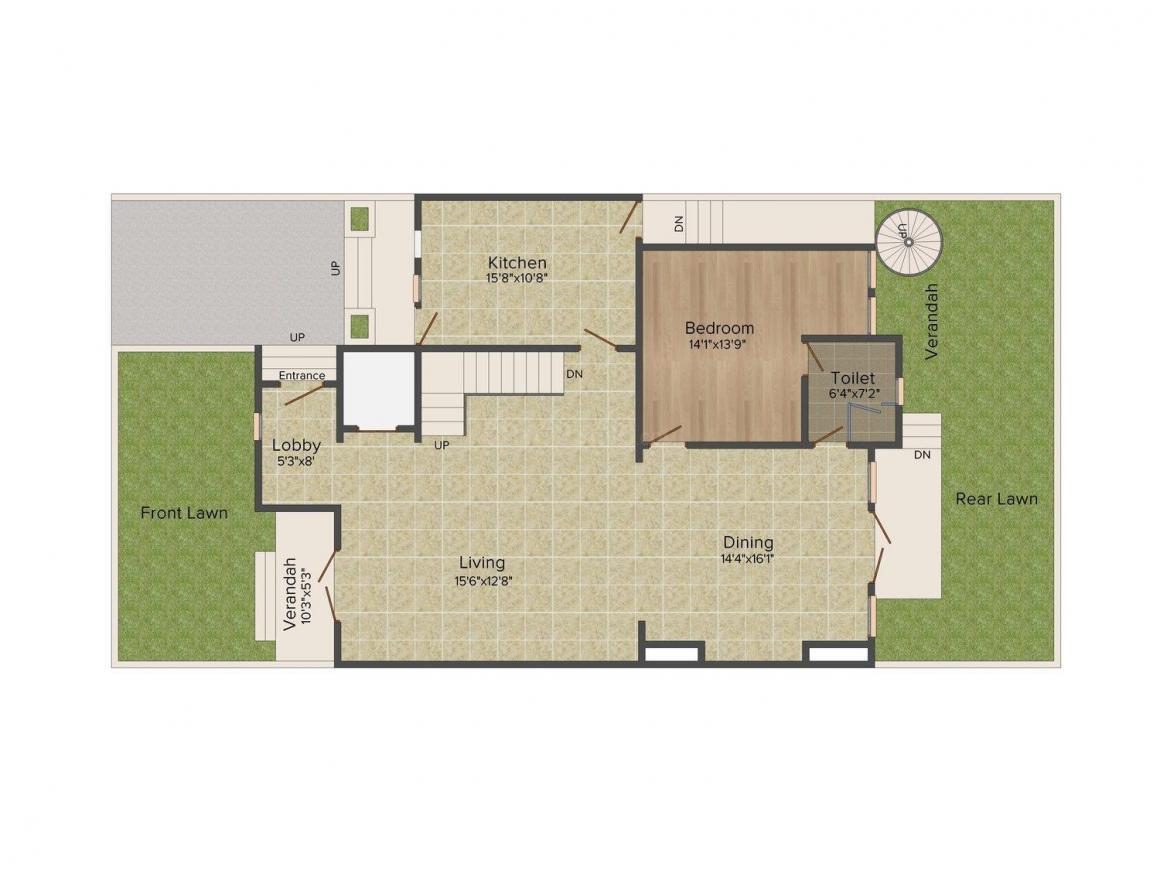 Emaar Marbella Floor Plan: 4 BHK Unit with Built up area of 5605 sq.ft 3