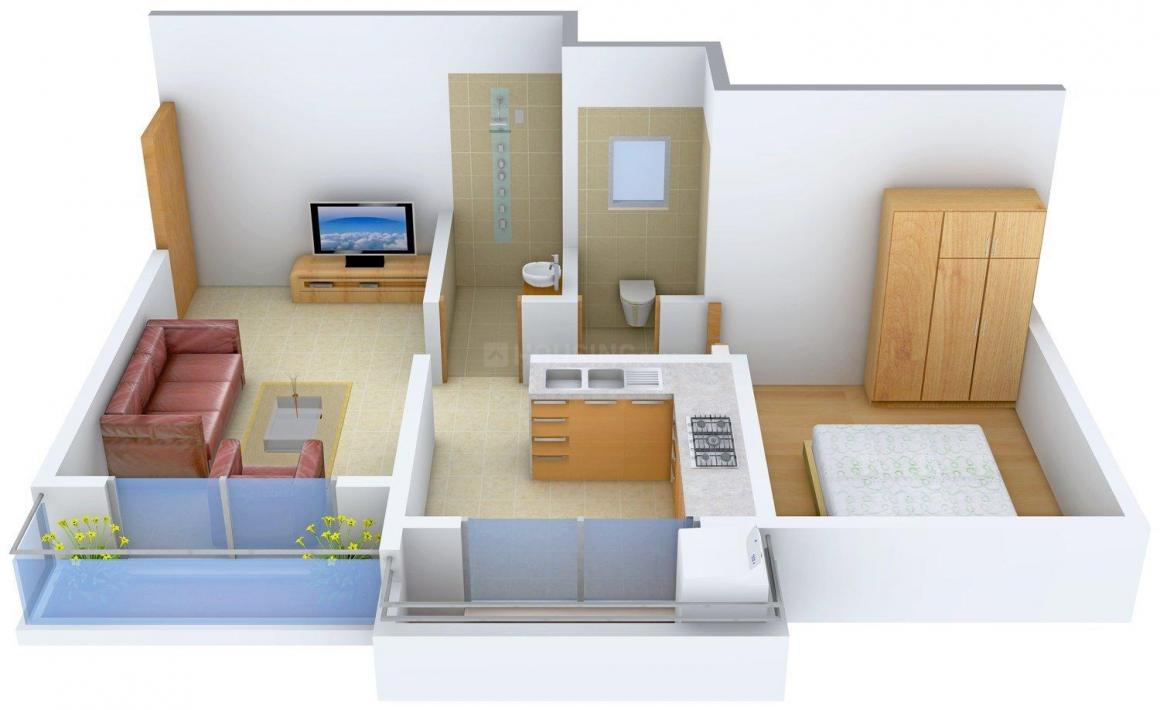 Floor Plan Image of 0 - 575 Sq.ft 1 BHK Apartment for buy in Diya Homes Indraprasth Building No. 2