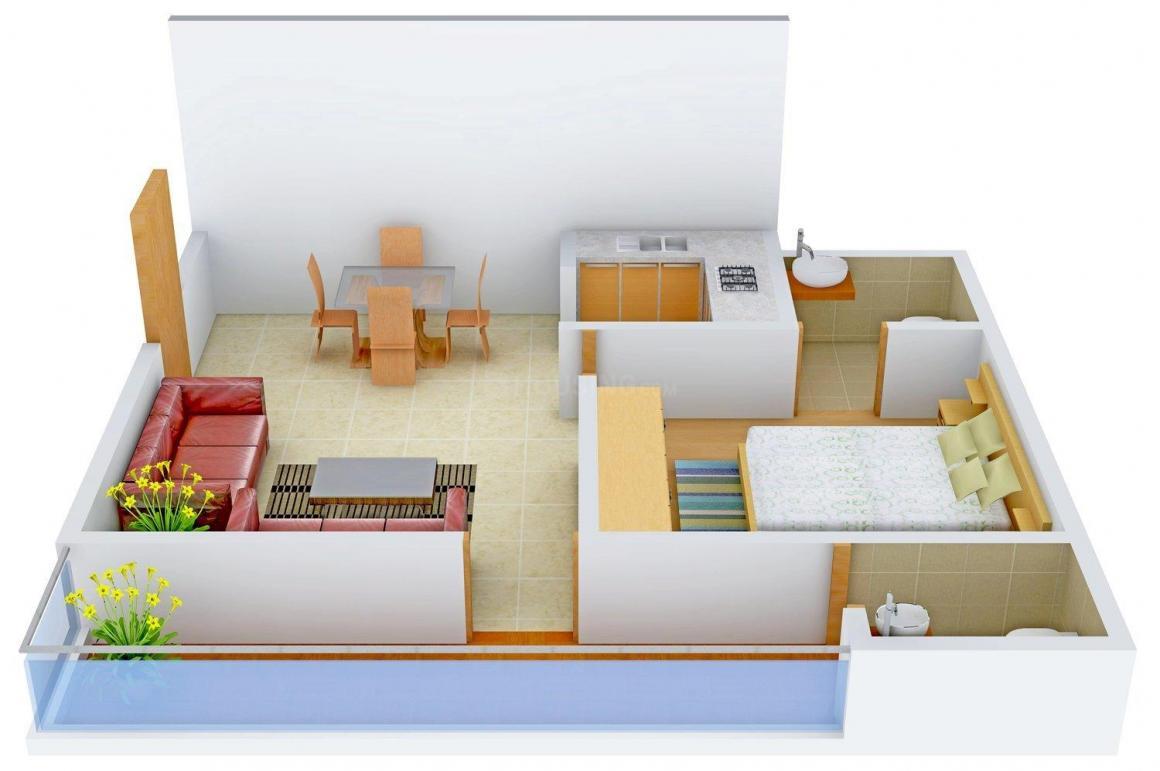 Floor Plan Image of 610.0 - 855.0 Sq.ft 1 BHK Independent Floor for buy in Urvashi Dream Valley