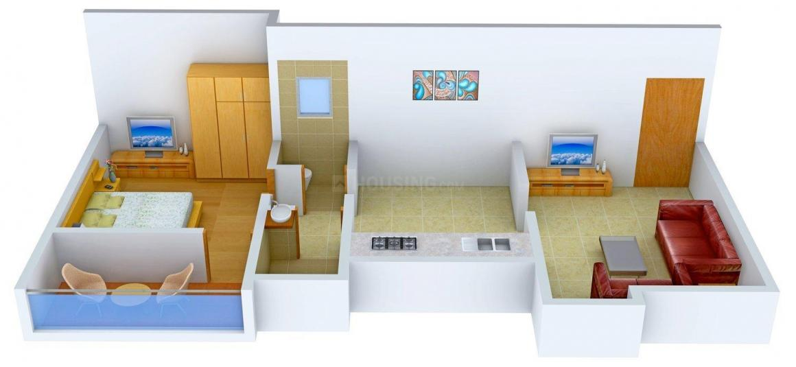 Floor Plan Image of 665 - 910 Sq.ft 1 BHK Apartment for buy in Pranav Glory