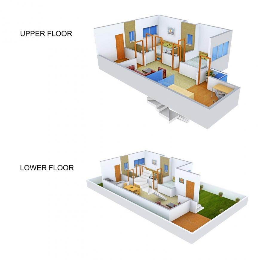 Floor Plan Image of 0 - 2158.0 Sq.ft 4 BHK Apartment for buy in Nest The World Villas - Contemporary