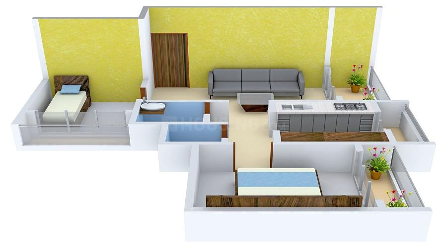 Rustomjee Seasons Wing D Floor Plan: 1 BHK Unit with Built up area of 550 sq.ft 1