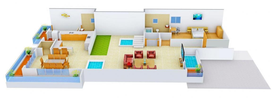Floor Plan Image of 0 - 2700 Sq.ft 5 BHK Independent Floor for buy in Nu Homes 3