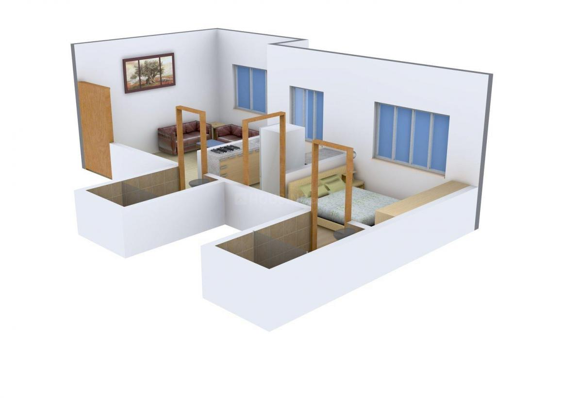 Floor Plan Image of 385.0 - 950.0 Sq.ft 1 BHK Apartment for buy in Crescent Residency
