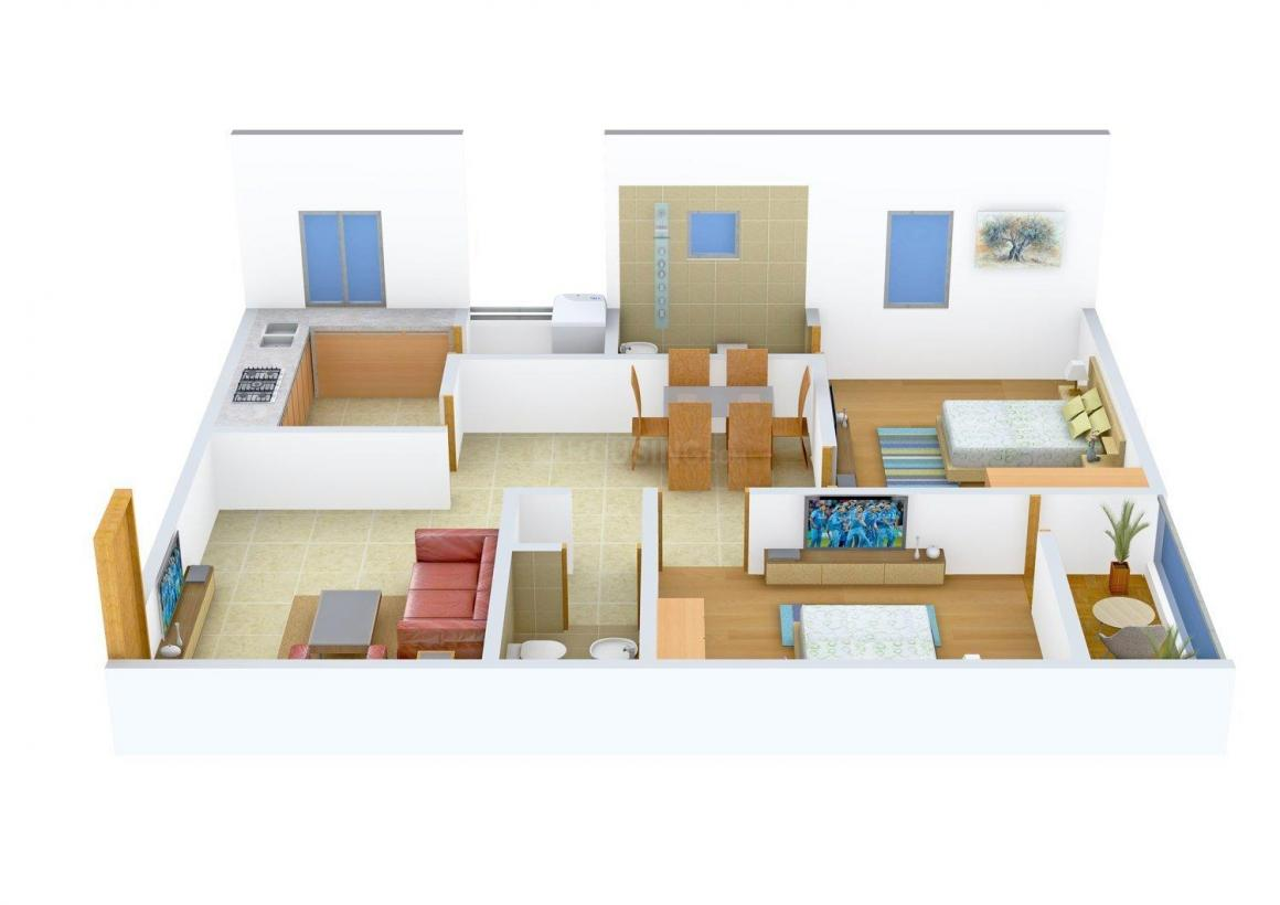 Floor Plan Image of 1050.0 - 1500.0 Sq.ft 2 BHK Apartment for buy in Jayabharathi's Ramani Heights