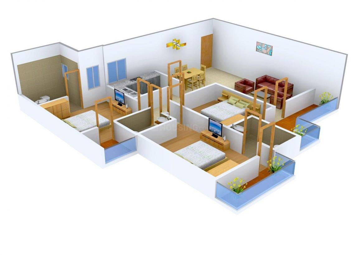 Floor Plan Image of 1759 - 2078 Sq.ft 3 BHK Apartment for buy in UK The Solitaire Avenue