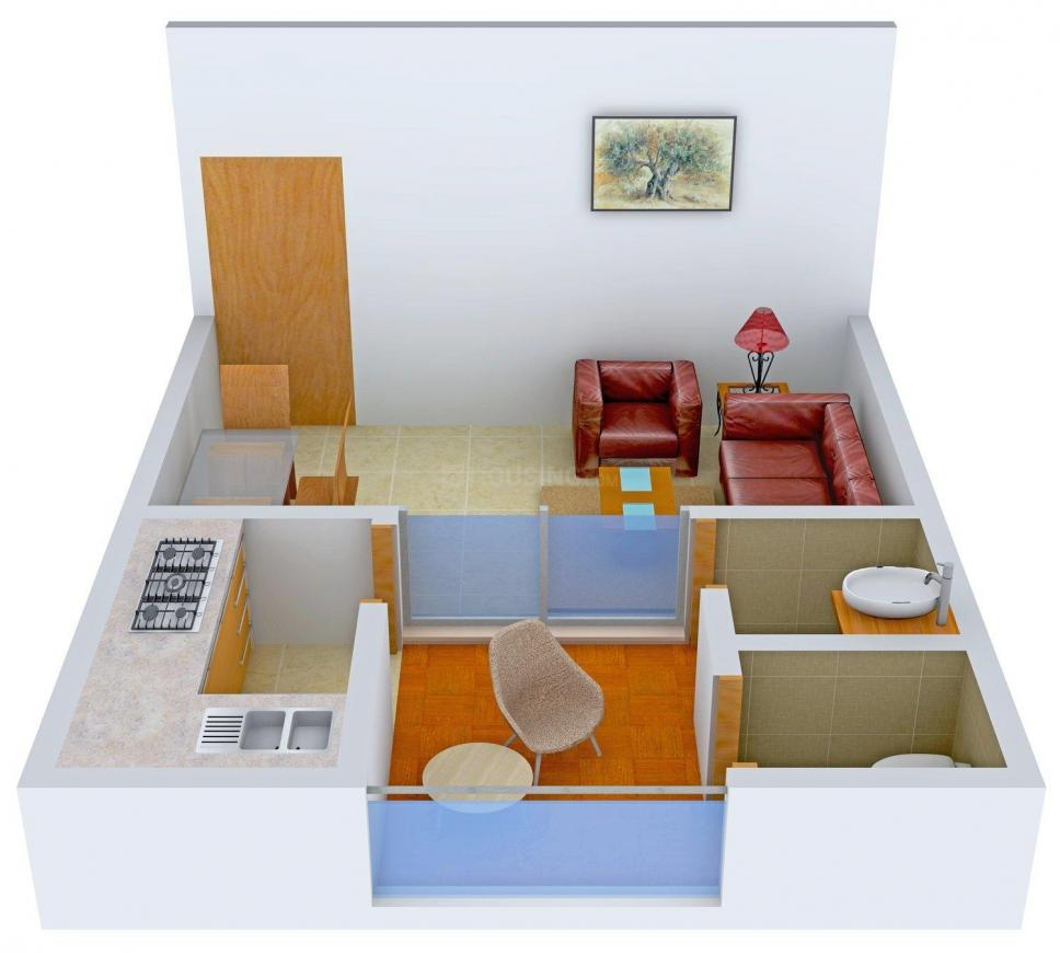 Floor Plan Image of 364 - 871 Sq.ft 1 RK Apartment for buy in Eiffel Neral Courtyard Homes