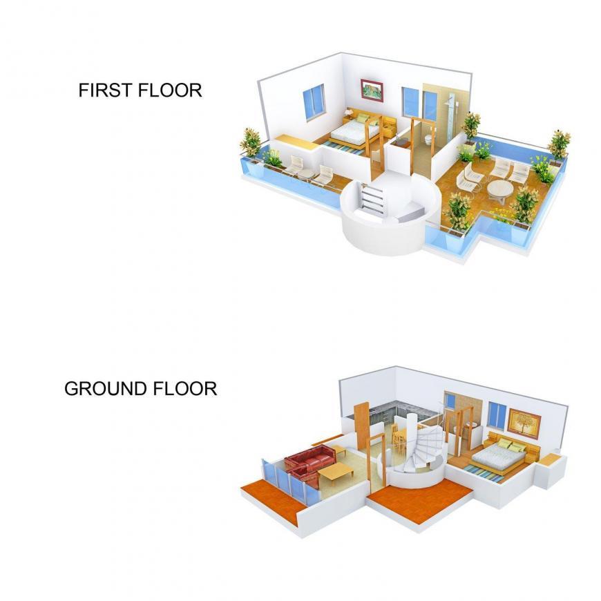 Chavanrishi Lutyen's Estates Floor Plan: 2 BHK Unit with Built up area of 1600 sq.ft 1