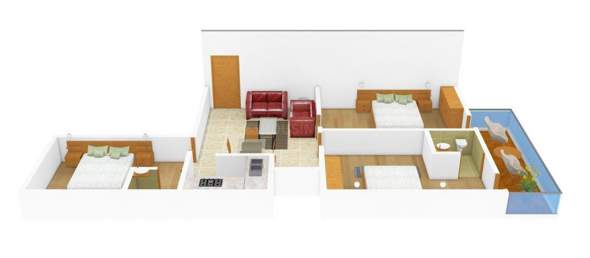 Floor Plan Image of 0 - 1000 Sq.ft 3 BHK Independent Floor for buy in Bhatia Apartment