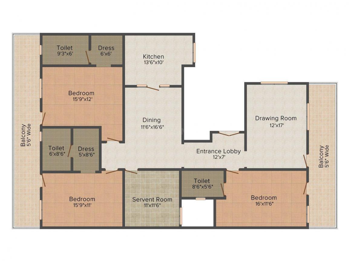 Floor Plan Image of 0 - 2700.0 Sq.ft 3 BHK Independent Floor for buy in Ishaadi Floors - 1
