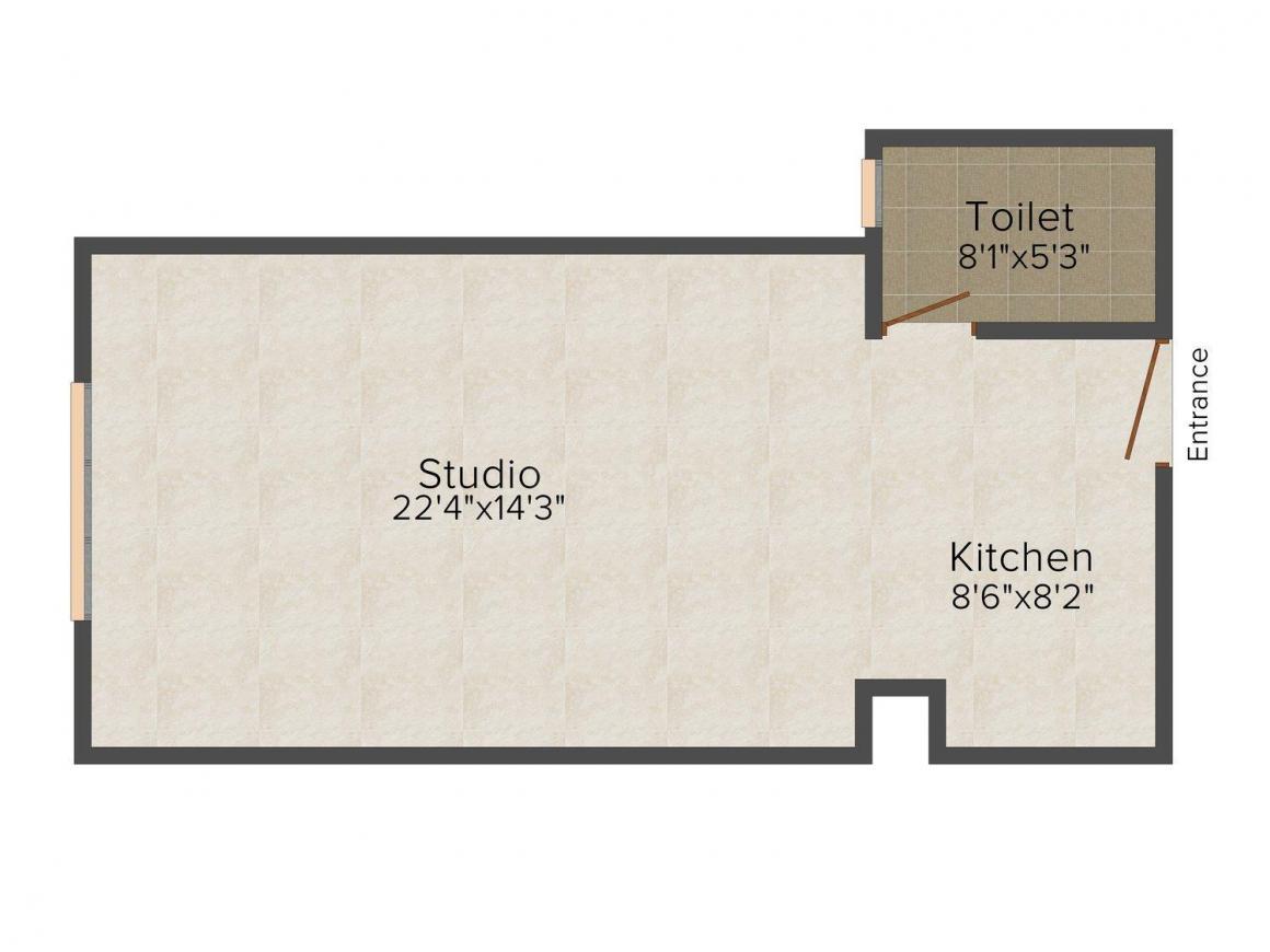 Floor Plan Image of 750.0 - 2200.0 Sq.ft 1 RK Studio Apartment for buy in Fortune World
