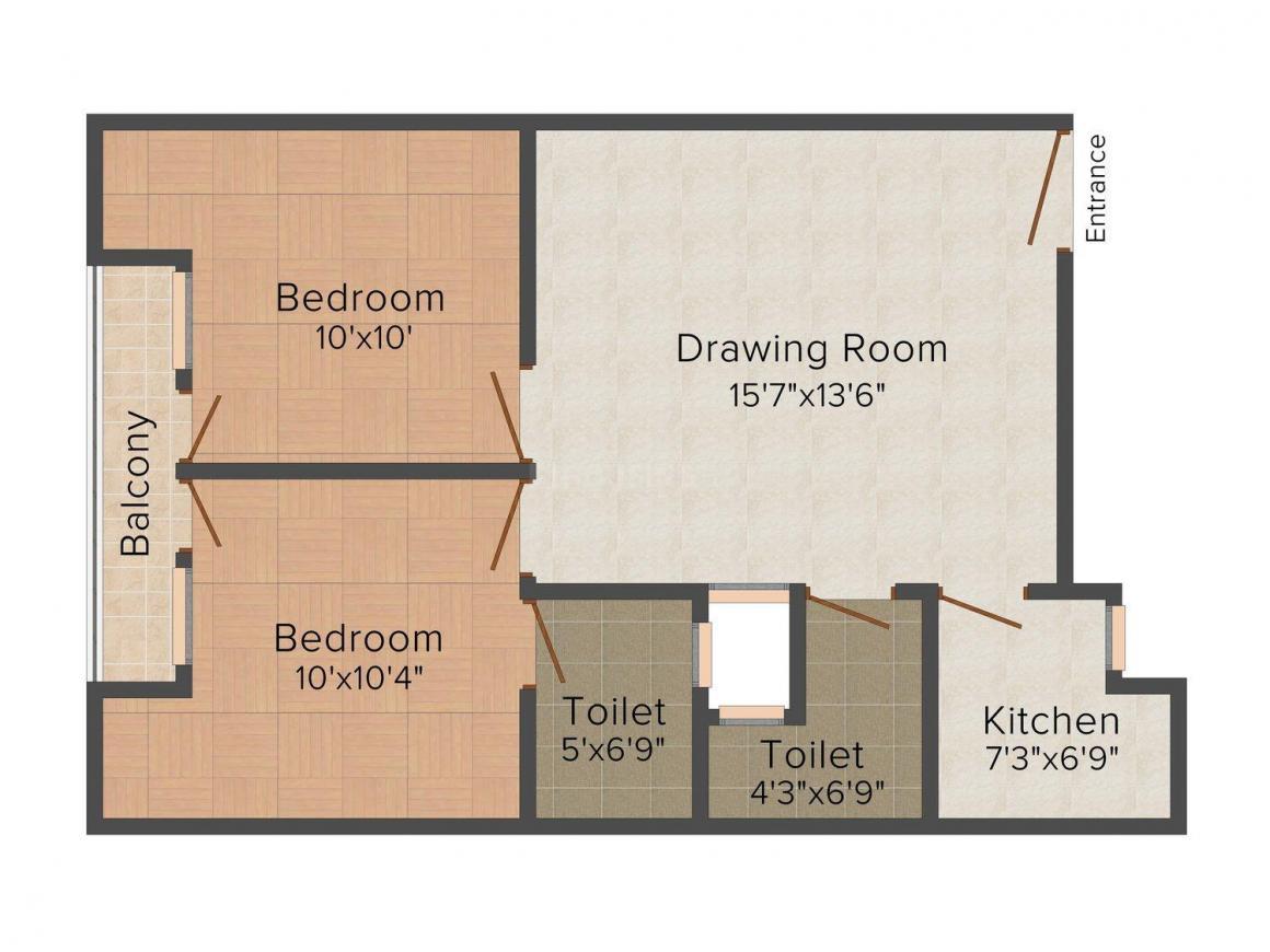 Floor Plan Image of 450 - 700 Sq.ft 1 BHK Independent Floor for buy in Shri Home 2