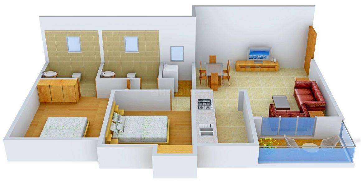Floor Plan Image of 0 - 1150 Sq.ft 2 BHK Independent Floor for buy in Ashiana Pancy