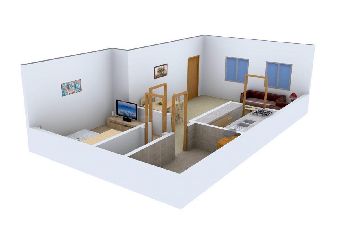 Vishwakarma Venus Floor Plan: 1 BHK Unit with Built up area of 650 sq.ft 1