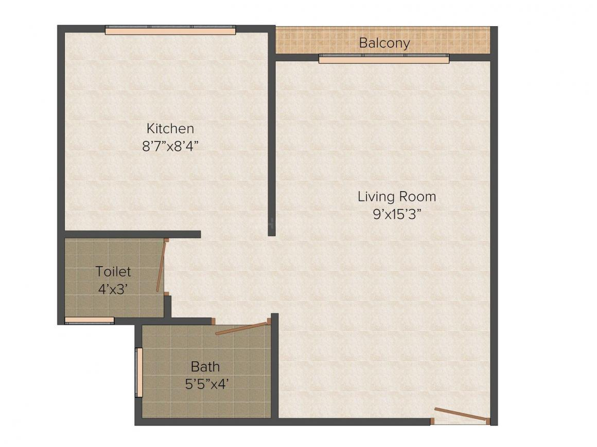 Floor Plan Image of 400.0 - 842.0 Sq.ft 1 RK Apartment for buy in Champion Riddhi Siddhi Complex
