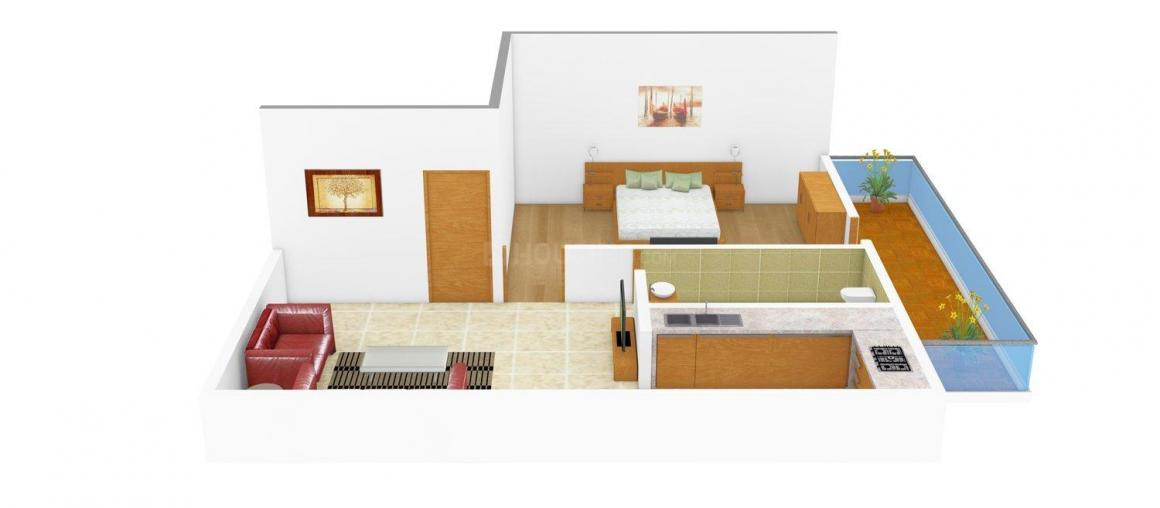 Floor Plan Image of 0 - 315 Sq.ft 1 BHK Independent Floor for buy in HMS Floors - I