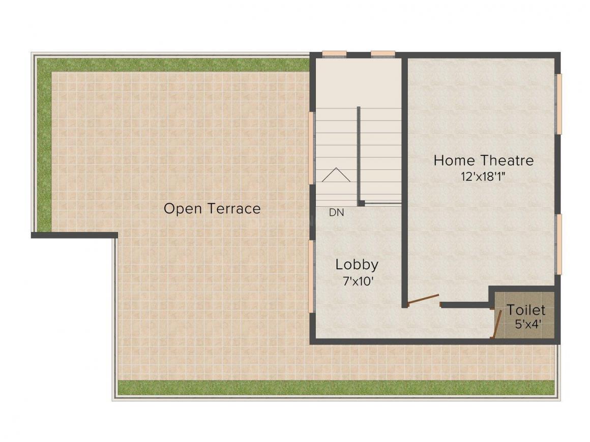 Giridhari Villa Onyx Floor Plan: 3 BHK Unit with Built up area of 2920 sq.ft 1