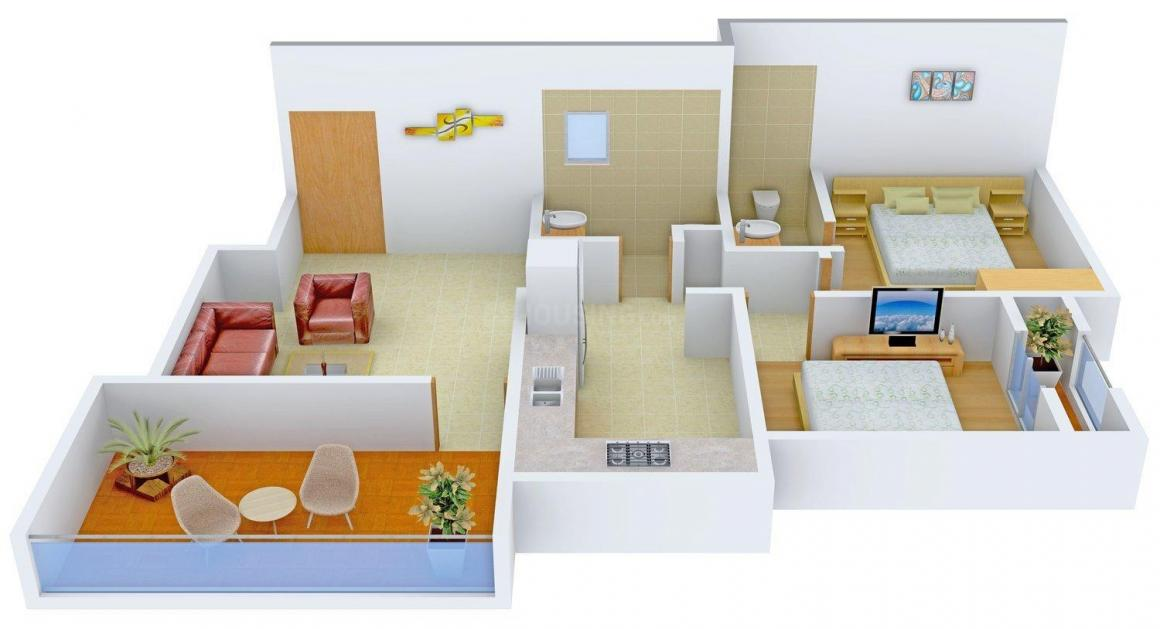 Floor Plan Image of 0 - 935.0 Sq.ft 2 BHK Apartment for buy in Aditya Jupiter