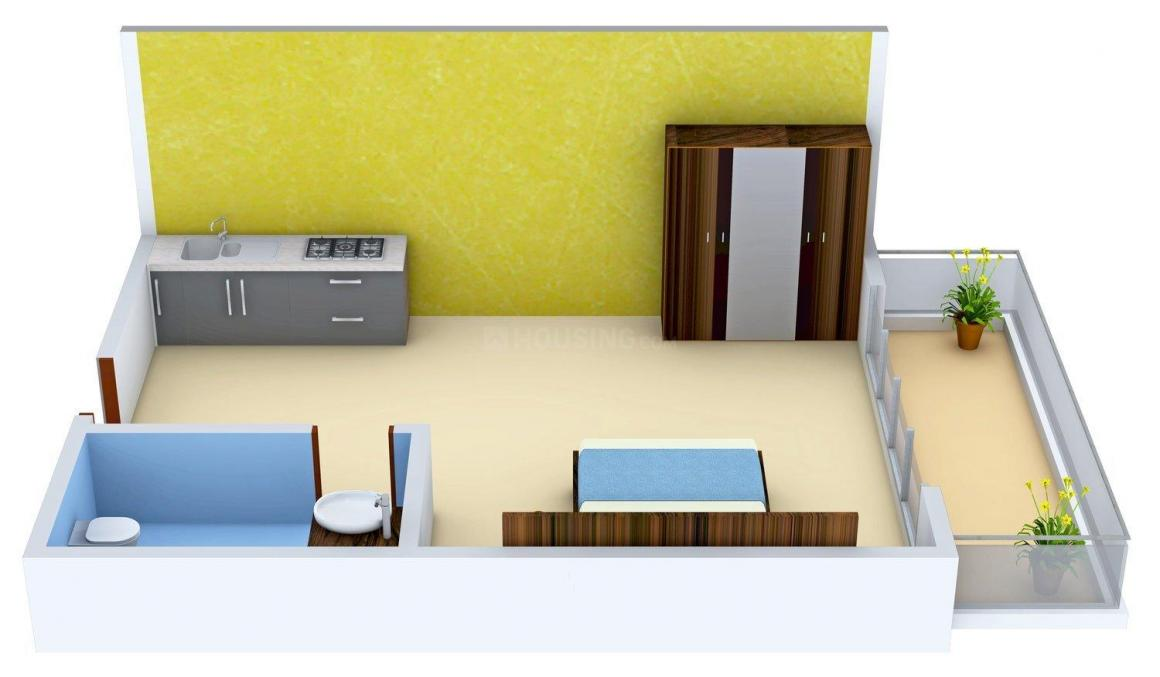 Godrej The Suites Floor Plan: 1 BHK Unit with Built up area of 710 sq.ft 1