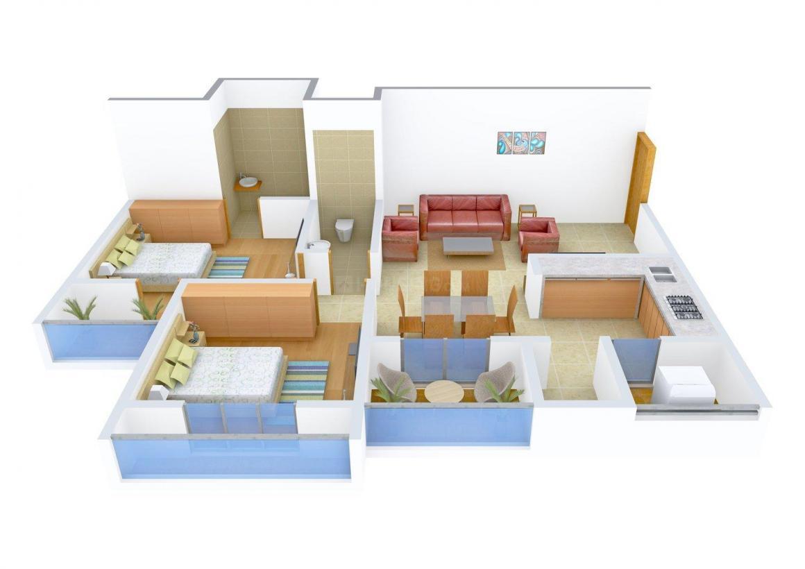 Floor Plan Image of 1152.0 - 1800.0 Sq.ft 2 BHK Apartment for buy in Universal Ikon Gandhi Residency