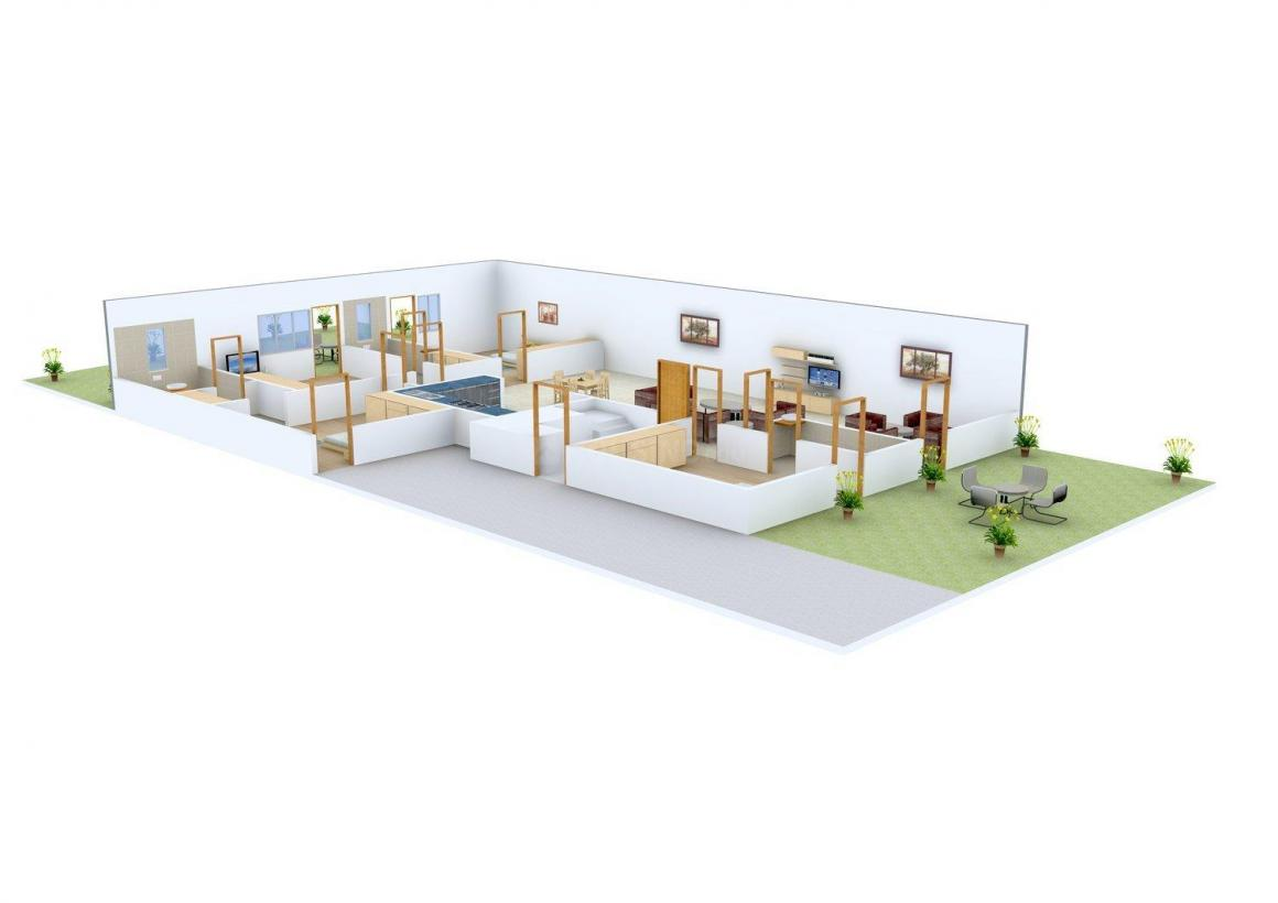 National Builder Floor - 4 Floor Plan: 4 BHK Unit with Built up area of 4056 sq.ft 1