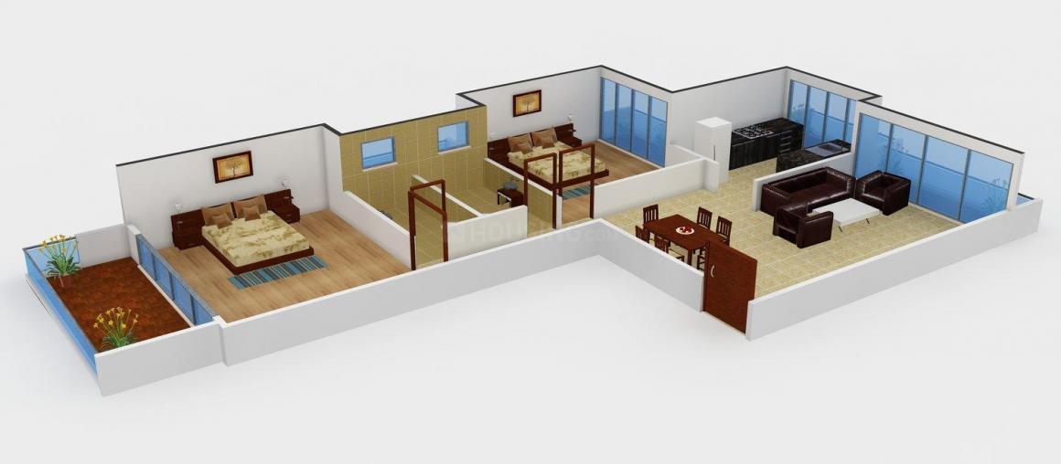Floor Plan Image of 0 - 1050.0 Sq.ft 2 BHK Apartment for buy in Shiva Rovio