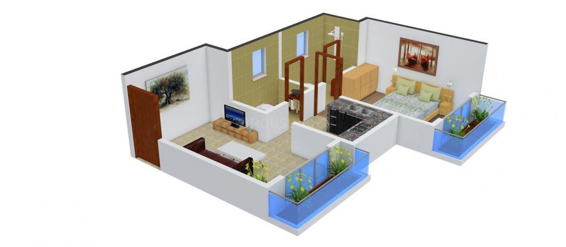 Floor Plan Image of 0 - 286.0 Sq.ft 1 BHK Apartment for buy in BM Vardhaman Nagar