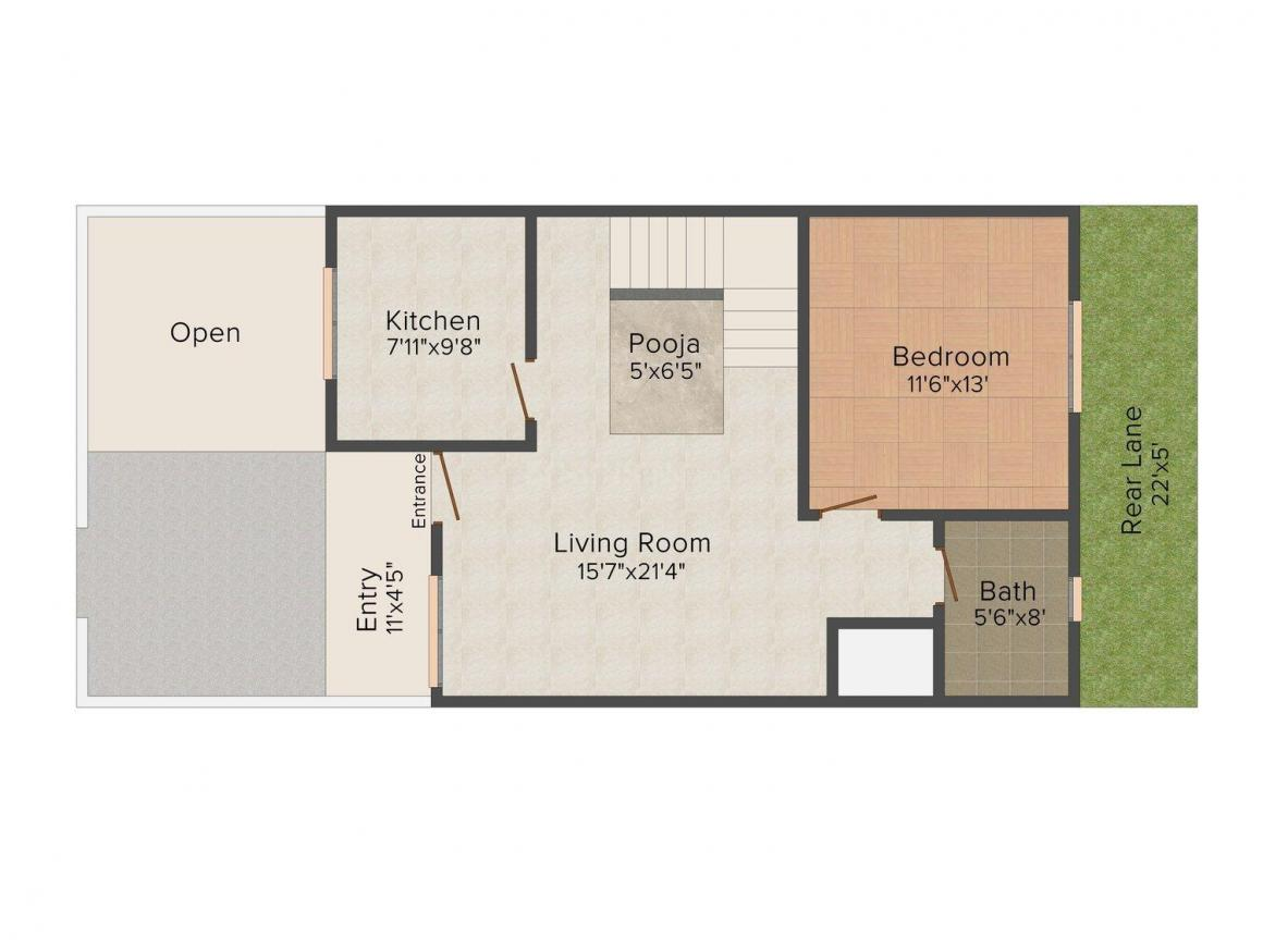 Floor Plan Image of 0 - 1890 Sq.ft 3.5 BHK Villa for buy in Yash Villas 3