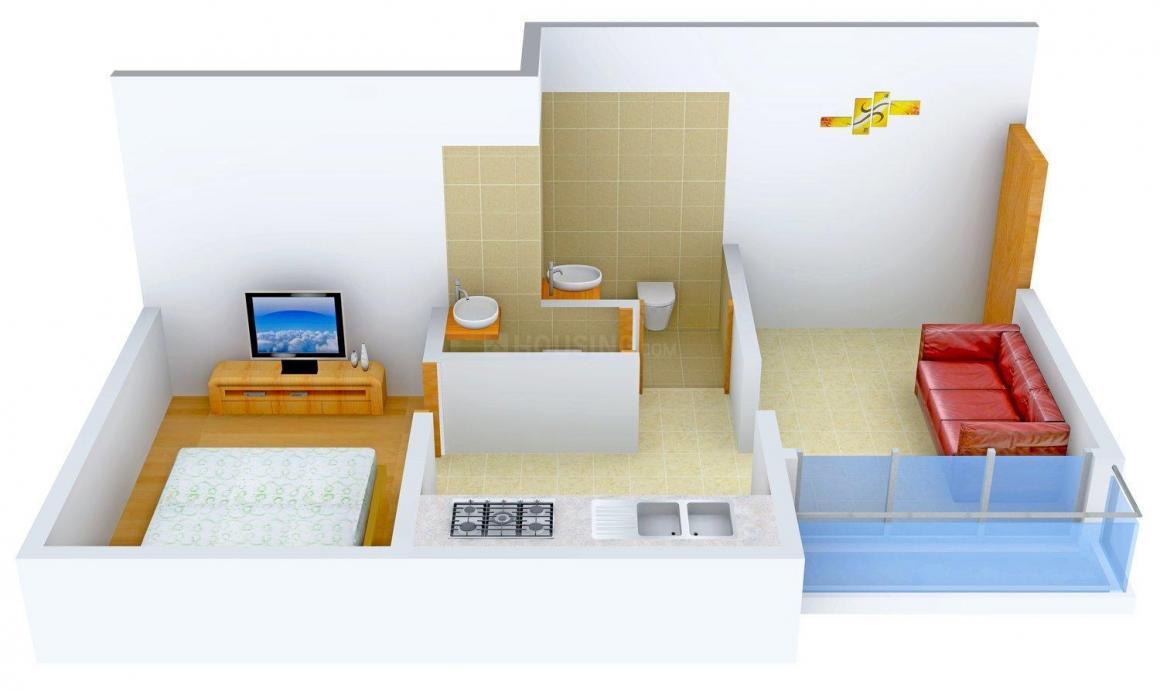 Floor Plan Image of 552 - 875 Sq.ft 1 BHK Apartment for buy in Kartikaya Park - II