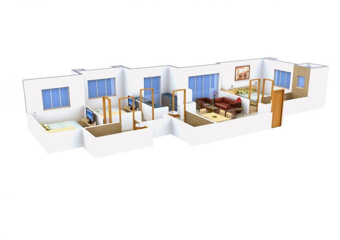 Floor Plan Image of 1290.0 - 1300.0 Sq.ft 3 BHK Apartment for buy in Amar Vinay Heights