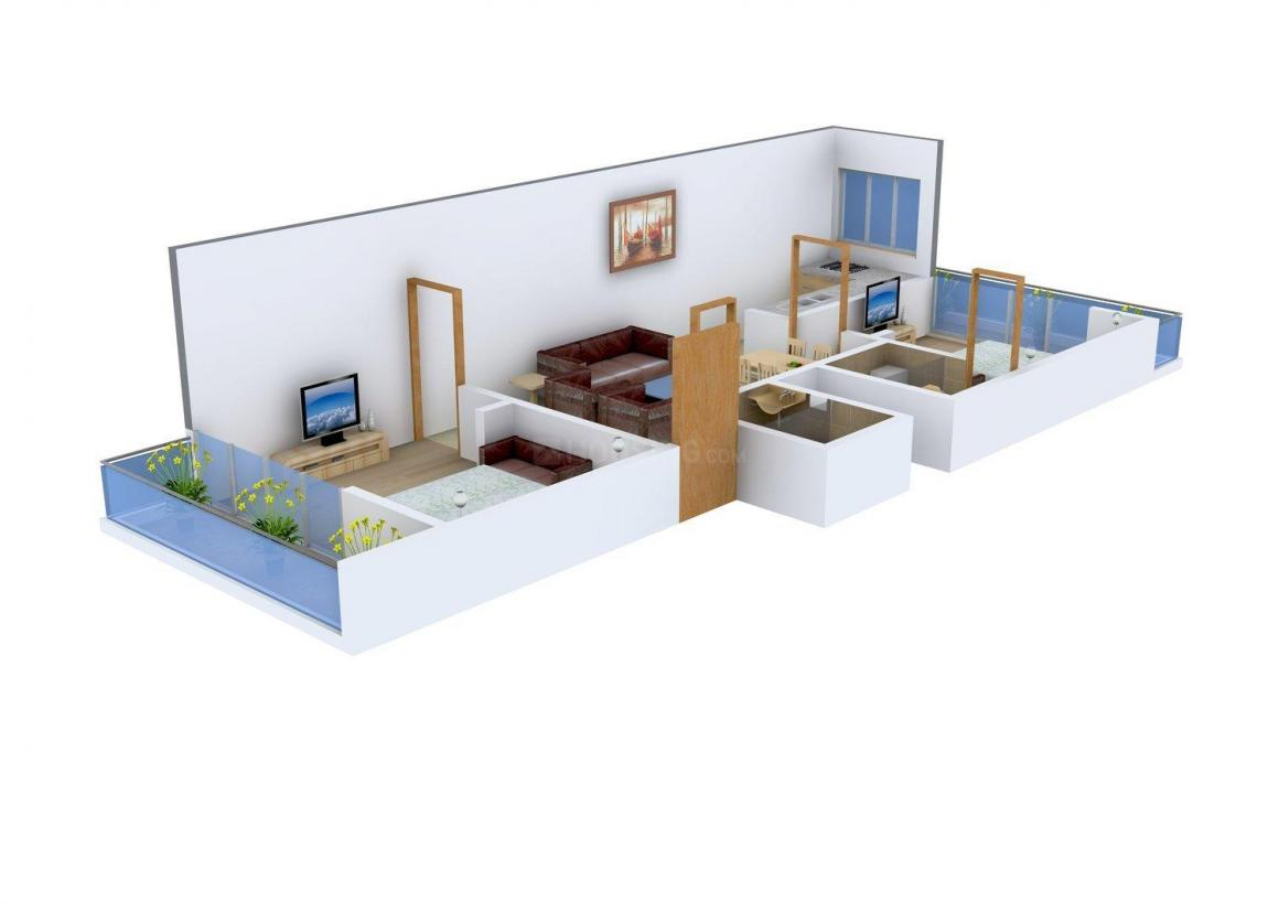 Om Namo Homes Floor Plan: 2 BHK Unit with Built up area of 863 sq.ft 1
