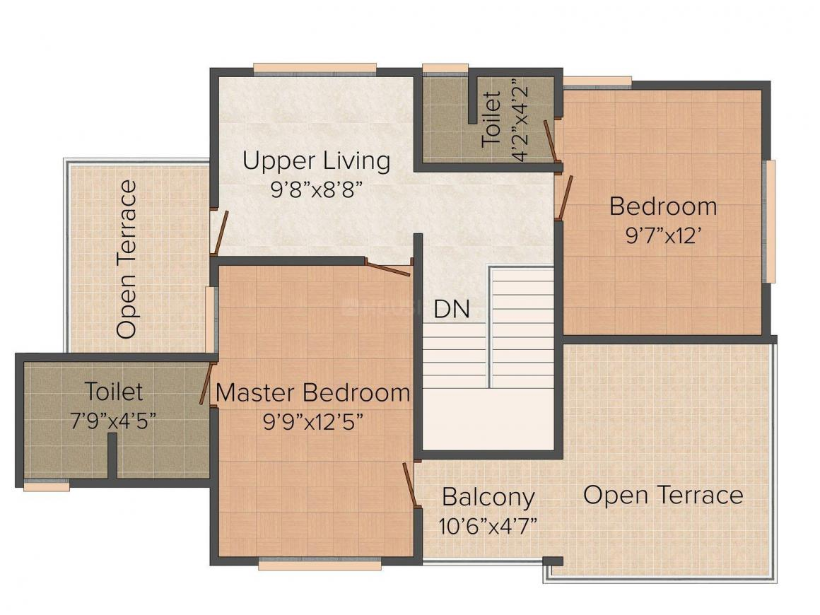 Floor Plan Image of 1677 - 1716 Sq.ft 3 BHK Villa for buy in Salim Nandanam Paradise Villas