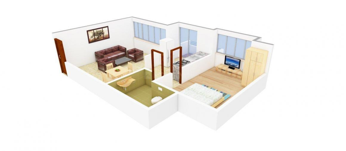 Floor Plan Image of 700 - 1150 Sq.ft 1 BHK Apartment for buy in Apollo - 2
