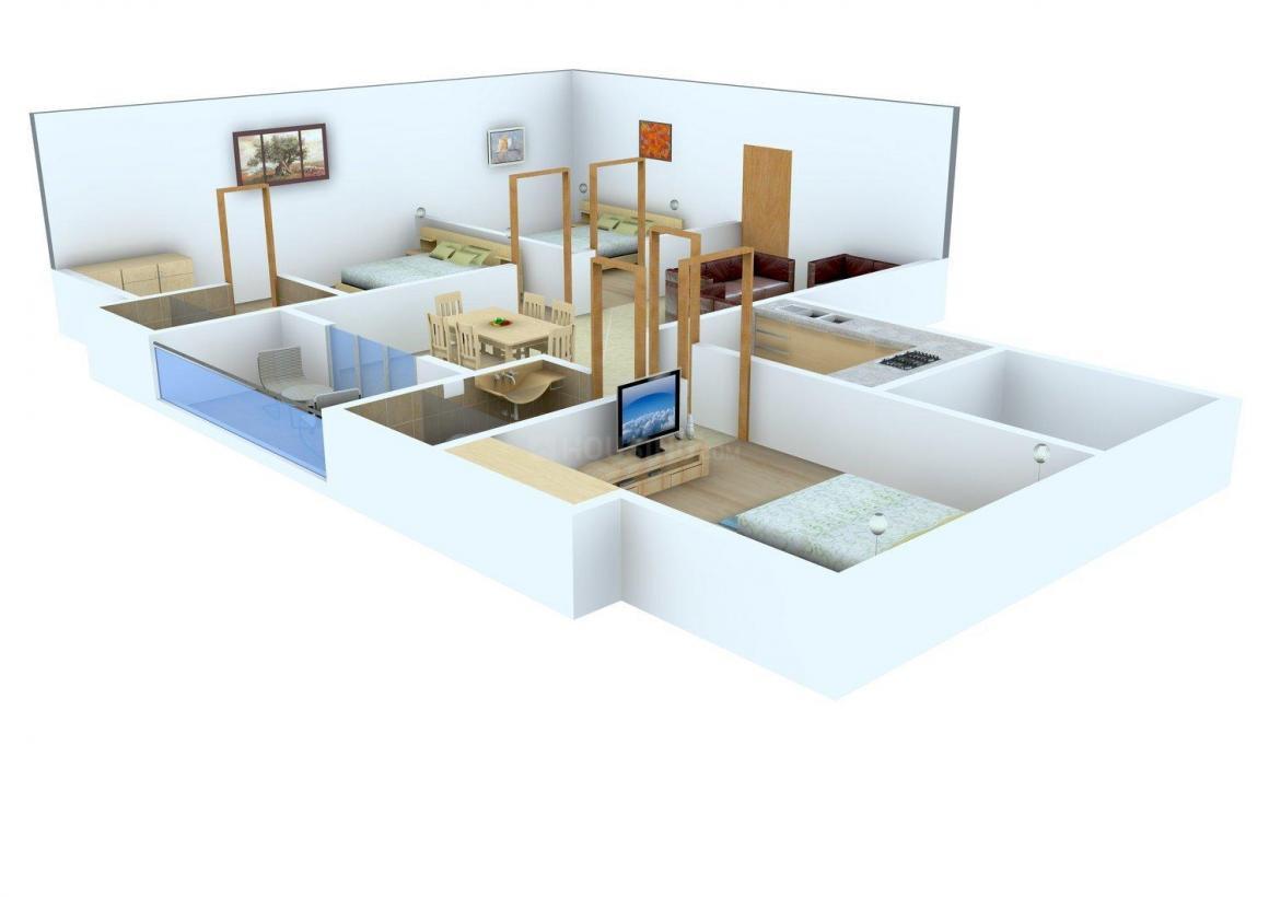 Floor Plan Image of 868 - 1409 Sq.ft 2 BHK Apartment for buy in Deva Travancore Residency